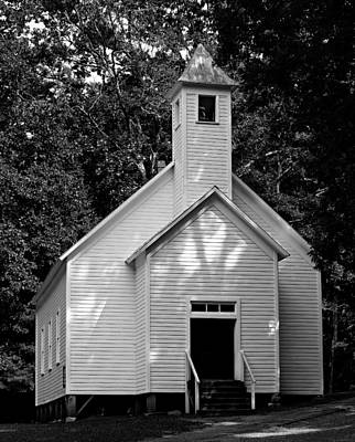 Cades Cove Missionary Baptist Church Print by Stephen Stookey