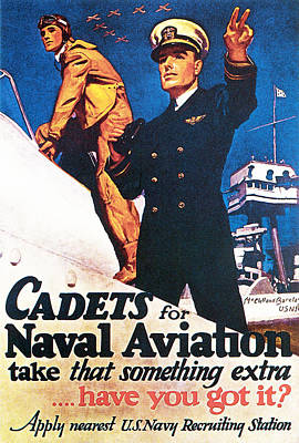 Aviator Drawing - Cadets For Naval Aviation Take That by McClelland Barclay