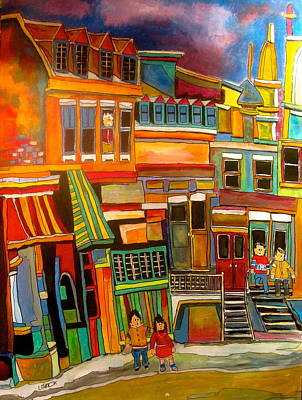 Old Jewish Area Painting - Cadieux Street Number 2 by Michael Litvack