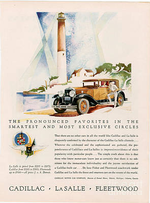 Cadillac La Salle 1929 1920s Usa Cc Print by The Advertising Archives