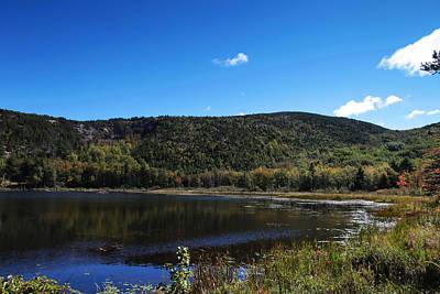 Desert Island Digital Art - Cadillac Mountain And Lake In Acadia National Park by Paul Ge