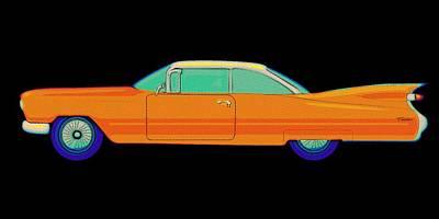 Cadilac Painting - Cadillac Oldtimer Vintage by Florian Rodarte