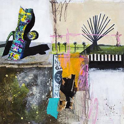 Avant Garde Mixed Media - Cadillac Ranch by Elena Nosyreva