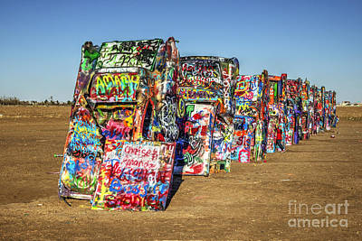 Amarillo Texas Photograph - Cadillac Ranch by Rob Hawkins