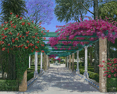 Oil For Sale Painting - Cadiz Garden by Richard Harpum