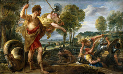 Jacob Jordaens Painting - Cadmus And Minerva by Jacob Jordaens