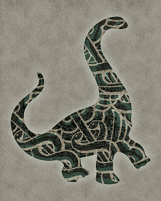 Dino Digital Art - Caduceus Dinosaur by Flo Karp