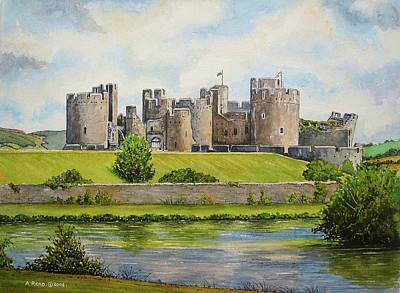 Caerphilly Castle Print by Andrew Read