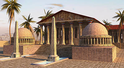 Temple Painting - Caesareum Temple Ancient Alexandria by Don Dixon