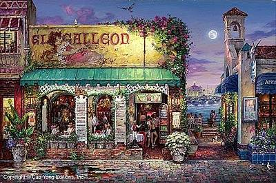 E 20 Painting - Cafe Bella  by Cao Yong