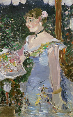 Blue Dresses Painting - Cafe Concert Singer  by Edouard Manet