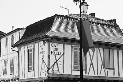 Framed Old Town Door Photograph - Cafe De Paris by Georgia Fowler