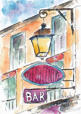 Cafe Du Centre - Paris Original by Pat Katz