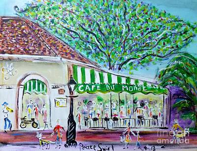 Corner Cafe Painting - Cafe Du Monde September 14 by Debora PeaceSwirl DAngelo