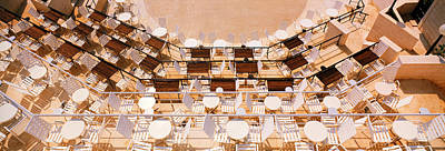 Empty Chairs Photograph - Cafe Dubrovnik Croatia by Panoramic Images