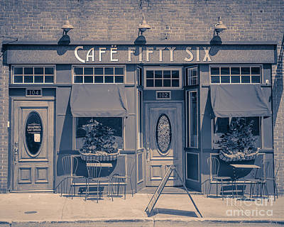 Cafe Fifty Six Middletown Connecticut Print by Edward Fielding