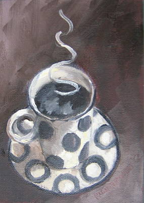 Susan L Richardson Art Painting - Cafe Noir by Susan Richardson