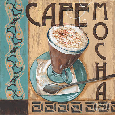 Signed Painting - Cafe Nouveau 1 by Debbie DeWitt
