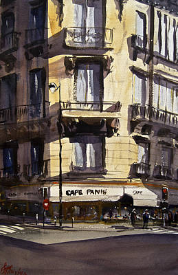 Corner Cafe Painting - Cafe Panis by James Nyika
