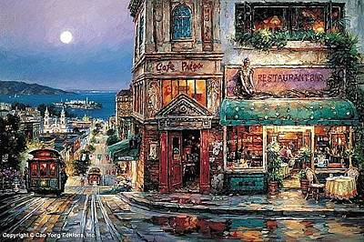 E 20 Painting - Cafe Prego by Cao Yong