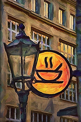 Cafe Sign Print by Gynt