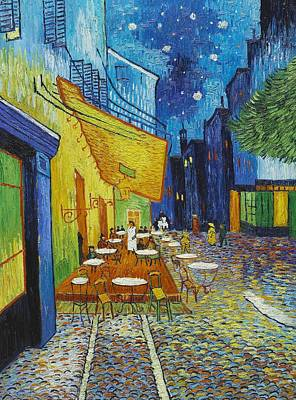 Cafe Terrace At Night Print by Georgia Fowler