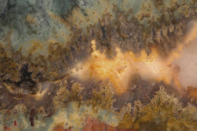 Nature Abstract Mixed Media - Cahllis Volcanics Agate by Leland D Howard