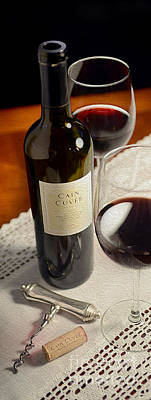 Wine Vineyard Mixed Media - Cain Cuvee Painting by Jon Neidert