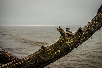 Lake Superior Art Gallery Photograph - Cairn On Superior by Paul Freidlund
