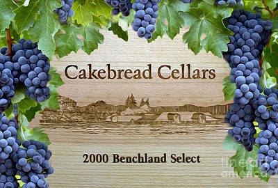 Cellar Photograph - Cakebread Cellars by Jon Neidert