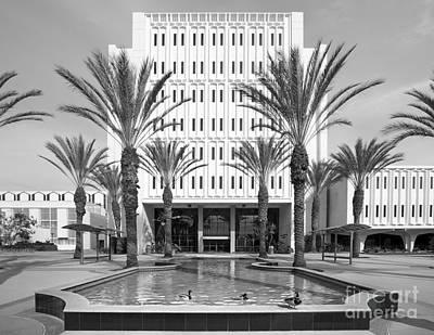 Cal State University Fullerton Langsdorf Hall Print by University Icons
