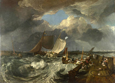 Joseph Mallord William Turner Painting - Calais Pier by Joseph Mallord William Turner
