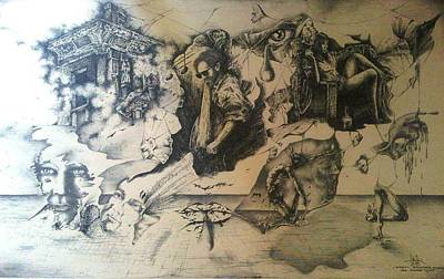 Drawing - Calatoria II by Robert Art