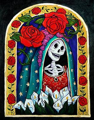 Calavera Painting - Calavera Guadalupe by Candy Mayer