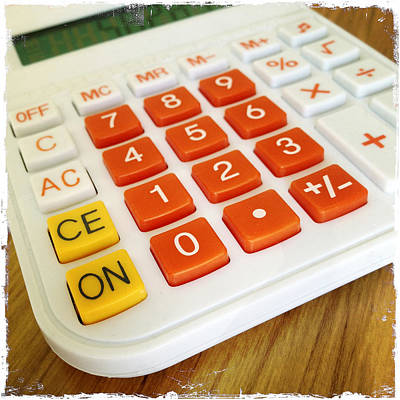 Keypad Photograph - Calculator by Les Cunliffe