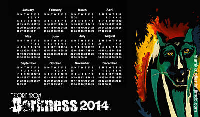 Calendar 2014  Print by Hiam  Kurdi