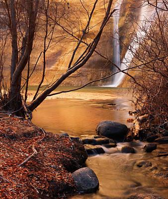 Escalante Photograph - Calf Creek Falls 3 by Leland D Howard