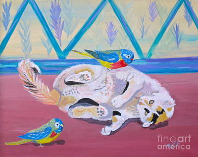 Calico And Friends Original by Phyllis Kaltenbach