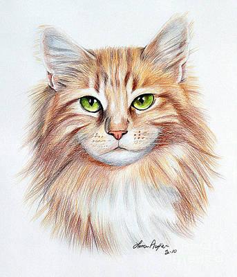 Calico Cat Original by Lena Auxier