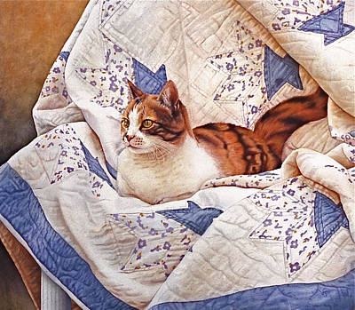 Cat Images Painting - Calico by  Julius and Victoria Lisi