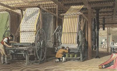 Nineteenth Century Photograph - Calico Printing Machines by Universal History Archive/uig