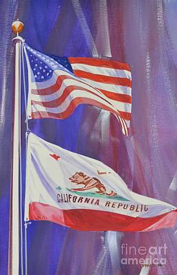 Star Spangled Banner Mixed Media - California Baby by Marco Ippaso