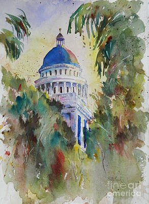 Capitol Building Painting - California Capitol Building by William Reed