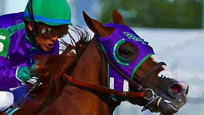 Kentucky Derby Mixed Media - California Chrome Kentucky Derby by Donna  Schellack