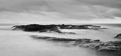 California Coast Long Exposure In The Morning Print by Andrew Raby