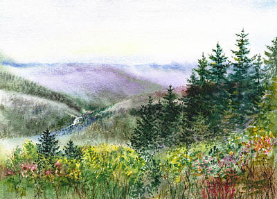 Fog Painting - Redwood Creek National Park by Irina Sztukowski