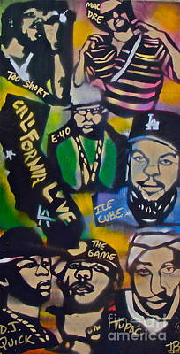 Free Speech Painting - California Love by Tony B Conscious