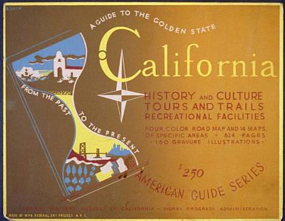 Tourism Digital Art - California by Georgia Fowler