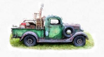 California Or Bust II Print by Edward Fielding