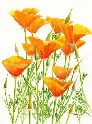 Poppy Flower Painting - California Poppies by Sharon Freeman